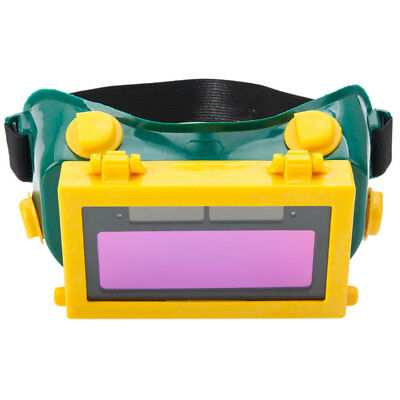Auto Darkening Welding Eyeshade Solar Powered Welding Goggles Yellow & Green