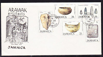 Jamaica 1979 Arawak Artifacts First Day Cover  Unaddressed