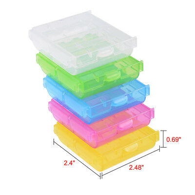 Multicolor Battery Storage Organizer Protective Container for AAA/AA Batteries
