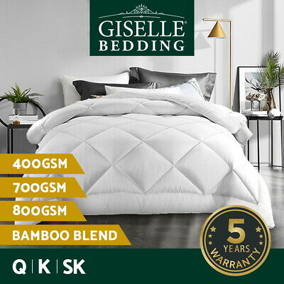 Giselle Bedding Bamboo Microfiber Quilt Microfibre Doona Duvet All Size Winter