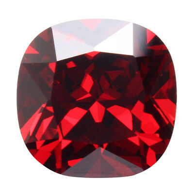 12.85CT PIGEON BLOOD ROT Saphir RUBY UNHEATED 12MM DIAMANT Edelsteine Square