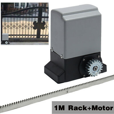 370W Sliding Gate Opener Electric Operator Remote Control Automatic1M Rack