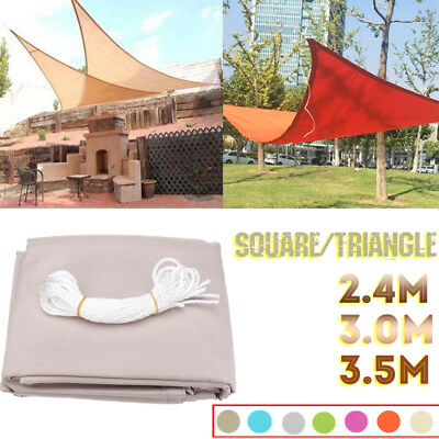 Sun Shade Triangle Square Sail Yard Garden Canopy Patio Cover Awning UV Block