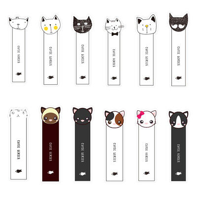 30Pcs Cute Oh Yeah Cats Head Paper Bookmark Book-Marks Marker Label Stationery