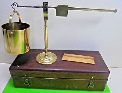 Antique Georgian Brass Corn Balance Scales Chrondrometer Watkins Charing Cross