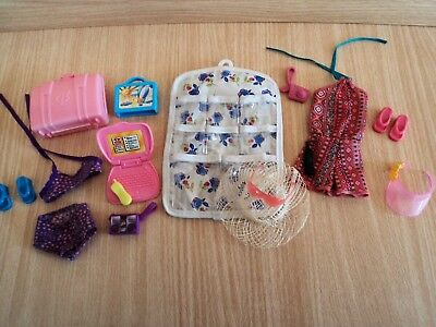 Barbie Holiday Job Lot / Bundle of Must Have Accessories & Clothes for the Beach