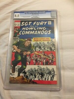 Sgt Fury And His Howling Commandos 67 CGC 8.5 1969 Awesome Book!!!!