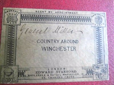 Hampshire:winchester-General Miller's Bespoke Antique Map: Victorian Os-1884