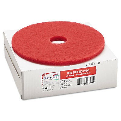Boardwalk Standard 17-Inch Diameter Buffing Floor Pads Red