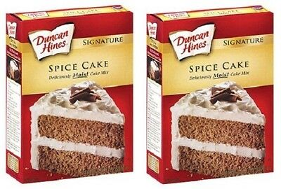 Duncan Hines Signature Spice Cake Mix 16.5 oz Box 2 Pack