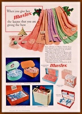 1941 Ad Martex Towel  Gift Boxes