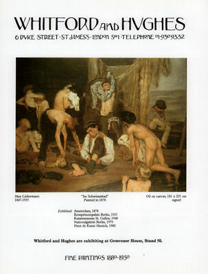 1986 B Ad  Art Gallery Whitford And Hughes Liebermann Naked Boys Swimming