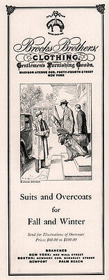 1931 Ad Brooks Brothers  Suits Overcoats Golf Trip Clubs Luggage