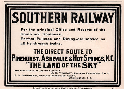 Ad Lot Of 5 1900 - 01 Ads Southern Railway Farms Land Development Asheville