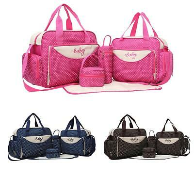 5 Pcs Baby Changing Diaper Nappy Travel Bag Mummy Handbag Multi-functional Set