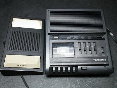 PANASONIC RR-930 Microcassette Transcriber / Recorder w/ Foot Pedal