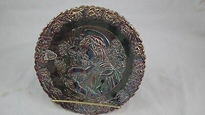1979 Fenton Blue Carnival Collectors Glass Plate Mothers Day 1979