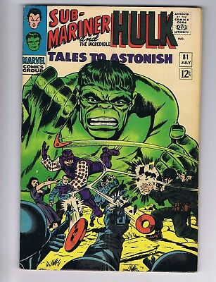 Tales To Astonish 81 (GVG) 1st app. Boomerang; Kirby; Colan; 1966 (c#19301)