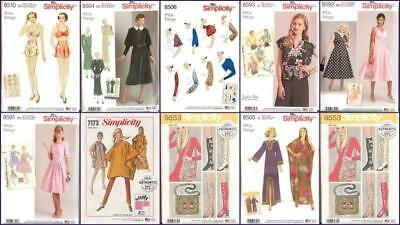 Vintage Retro 30s 40s 50s 60s 70s New Simplicity Sewing Pattern You Pick