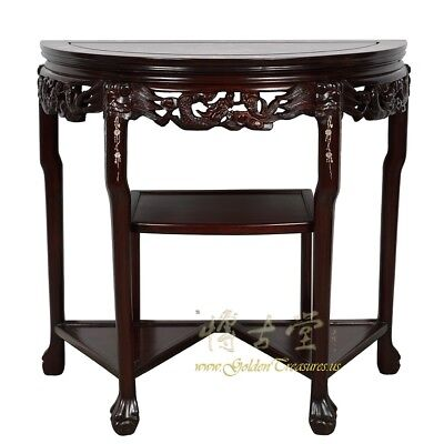 Vintage Chinese Rosewood with Mother of Pearl Inlay Console/Entry Table 18LP57