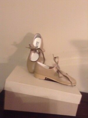 TAP MATES  Beige Girl's Tap Shoes Size 12 1/2 NWOT