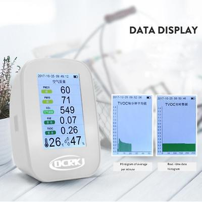 Digital LCD Air Quality Monitor Laser PM2.5 Detector Tester Monitor Formaldehyde