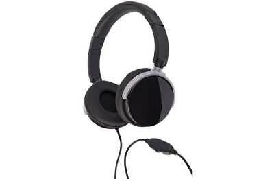 Bush PHK-907 On-Ear 2.5m Wired Headphones Leather - Black