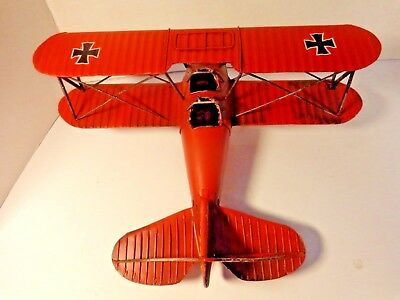 One Red Baron ,german Military Aircraft ,metal Model ,bi-Wing Airplane