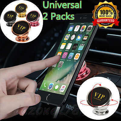 2 Pack Magnetic 360° Car Dash Mount Ball Dock Holder For Cell Phone Universal US