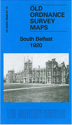 Old Ordnance Survey Map South Belfast 1920 Eglantine Avenue Ormeau Bridge