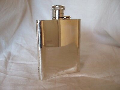 Hip Flask Art Deco Sterling Silver Birmingham 1946