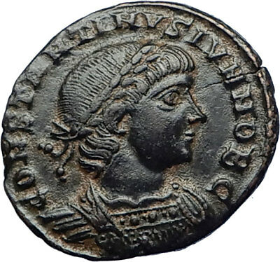 CONSTANTINE II Jr Authentic Ancient 335AD Antioch ROMAN Coin SOLDIERS i69992
