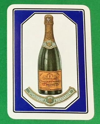 Playing Cards 1 Single Swap Card Antique Wide VEUVE CLICQUOT PONSARDIN Champagne