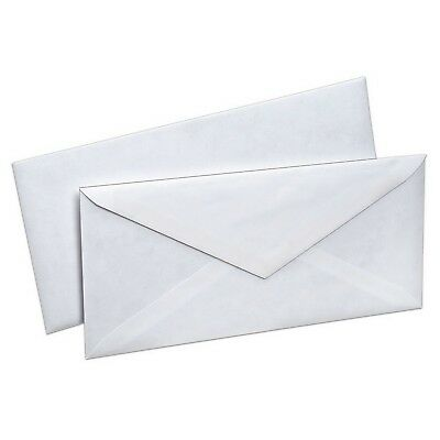 500 #10 White Security Envelopes 500 count Gummed Flap