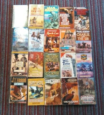 Westerns lot of 20 paperbacks