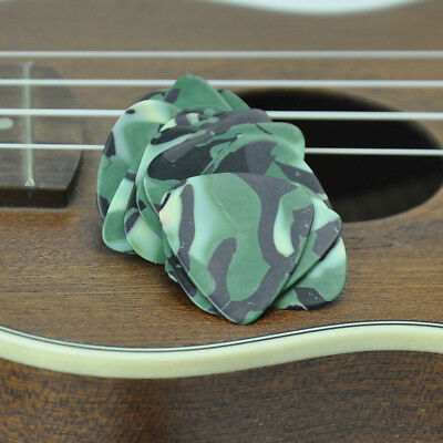 Lots of 100pcs Thin 0.46mm Gauge Guitar Picks Plectrums Celluloid Camouflage New
