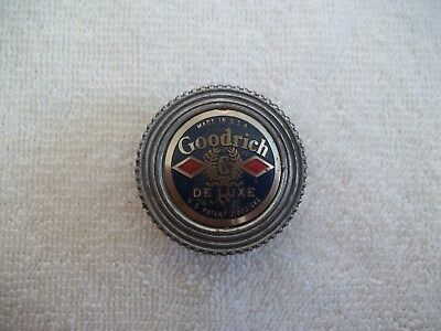 Vintage Goodrich DE LUXE Cap Cover Emblem Badge Tire Patch Lid