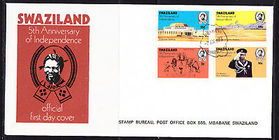 Swaziland 1973 - 5th Anniversary Independence First Day Cover Unaddressed