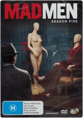 """MAD MEN: Season 5"" DVD, 3 Disc Set - Region [4] NEW - CLEARANCE -"