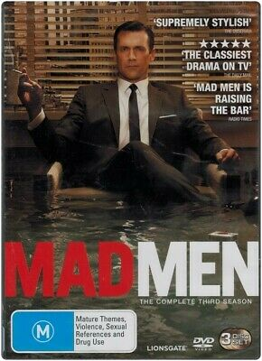 """MAD MEN: Season 3"" DVD, 3-Disc Set - Region [4] NEW - CLEARANCE -"
