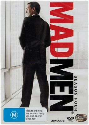 """MAD MEN: Season 4"" DVD, 3 Disc Set - Region [4] NEW - CLEARANCE -"