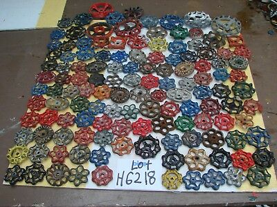 Lot 129 Vintage Metal water Faucet Knobs valve handles STEAMPUNK arts and crafts
