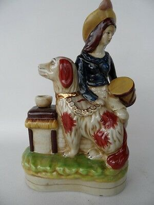 Vintage  Large Figurine Lady With Dog Figurine