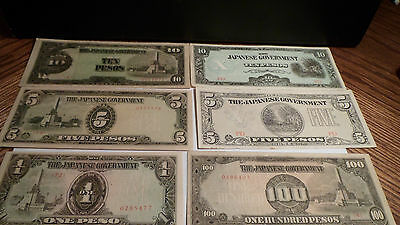 Philippines--Japanese Occupation money VF to AU