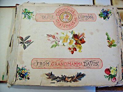 Antique late Victorian scrap album dated 1882