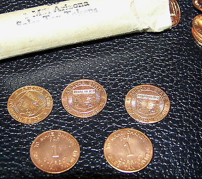5 Arizona State Sales Tax Commission Payment Token Original RED UNCIRCULATED BU