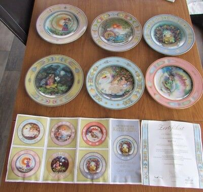 6 plates Villeroy & and Boch DREAMS OF KATHARINA No2 1986 Gero Trauth assiettes