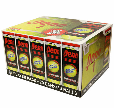 Penn Championship Tennis 60 Balls 20 Cans Regular, Extra Duty or High Altitude