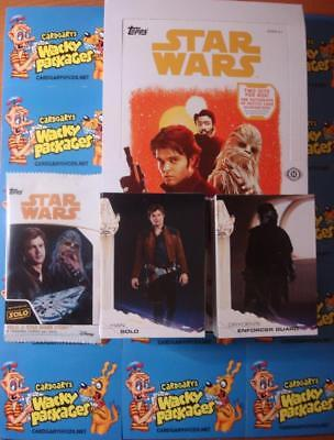 2018 TOPPS SOLO A STAR WARS STORY COMPLETE 100 CARD BASE SET + empty box