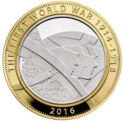 2016 UK £2 Coin First World War Commemoration 1914-1918 The Army Two Pound Piece